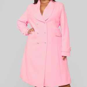 Fashion Nova Plus Size 1xl pink trench coat